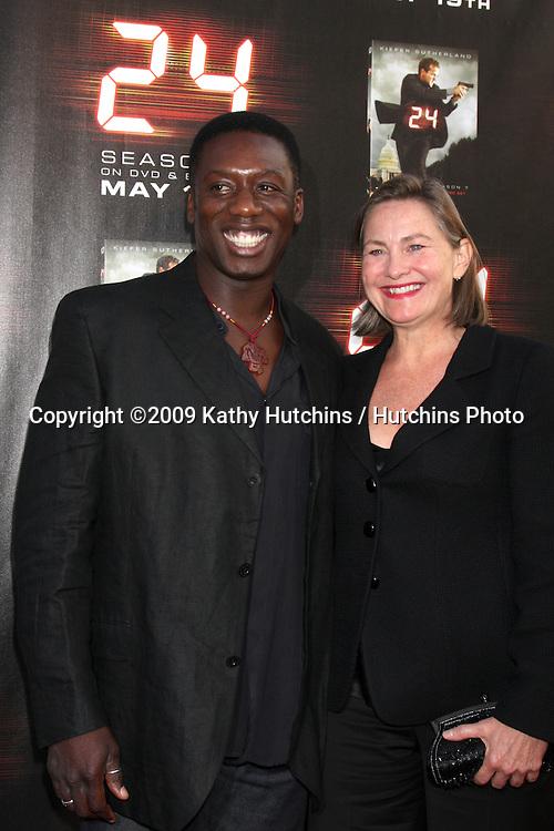 Hakeem Kae-Kazim & Cherry Jones arriving at the 24 Season Finale Screening (Season 8), and Season 7 DVD Release at the Wadworth Theater in Westwood , CA  on May 12, 2009.©2009 Kathy Hutchins / Hutchins Photo....                .