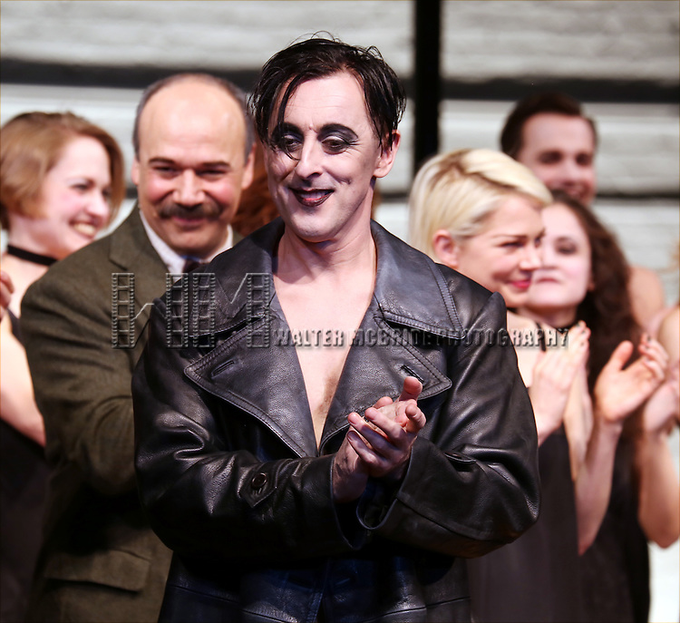 Danny Burstein, Alan Cumming and Michelle Williams during the Broadway Opening Night Performance Curtain Call for 'Cabaret' at Studio 54 on April 24, 2014 in New York City.