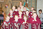 Scoil Realta na Maidine 1st communion class:lass Teacher Mrs Mahony - Back Row L to R - Conor Hope, Harvey Whyte, Davin Godfrey, Adam O' Carroll Middle Row - Cillian Nolan, Kajetan Woejeiak, Mark Foley, Robert O' Brien Front Row - Sean Healy, Patrick Scully, Killian Fealey, Billy Melvin Absent from Picture Andrew Noble.