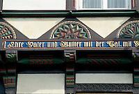 Deutschland, Goslar, Fachwerkhaus, Unesco-Weltkulturerbe