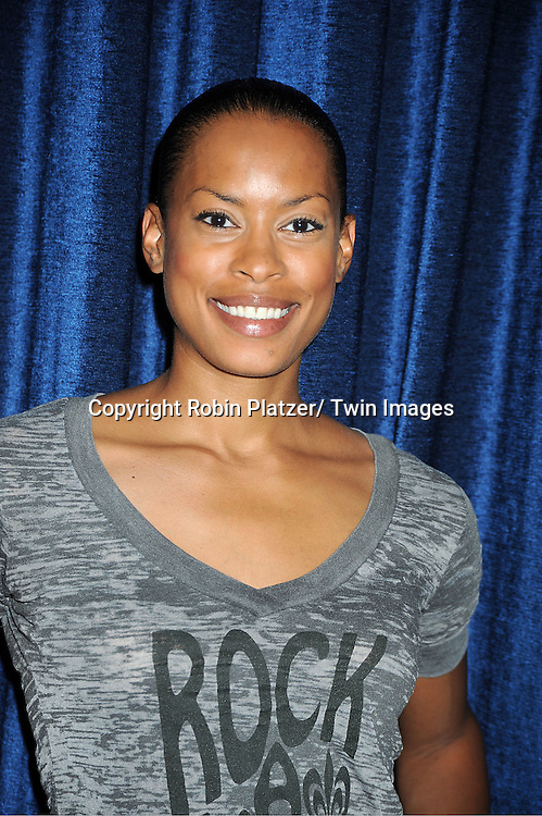 actress  Kearran Giovanni  attends the Daytime Stars and Strikes Charity Bowling Event benefitting the American Cancer Society on ..October 9, 2011 at Bowlmor Lanes in Times Square.