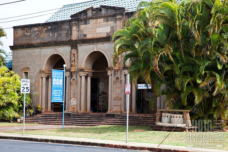 Entrance of the Kauai Museum in Lihue