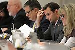 Nevada Assembly Republicans, from left, Randy Kirner, James Oscarson, Derek Armstrong and Jill Dickman work in committee at the Legislative Building in Carson City, Nev., on Wednesday, May 20, 2015.<br /> Photo by Cathleen Allison