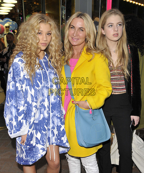 LONDON, ENGLAND - APRIL 08: Molly Rainford, Meg Mathews &amp; Anais Gallagher attend the Monki party to celebrate the start of Spring, Monki boutique, Carnaby St., on Wednesday April 08, 2015 in London, England, UK. <br /> CAP/CAN<br /> &copy;Can Nguyen/Capital Pictures