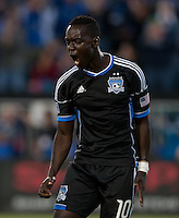 Santa Clara, California - Saturday August 25th, 2012: San Jose's Simon Dawkins celebrates after his goal during a game against Colorado Rapids at Buck Shaw Stadium, Stanford, Ca    San Jose Earthquakes defeated Colorado Rapids 4 - 1