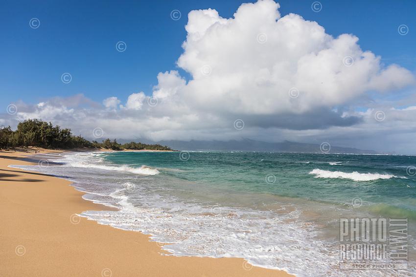 Beachgoers at Baldwin Beach, Pa'ia, Maui.