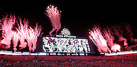 Fireworks were set off over Ohio Stadium as the Buckeyes took the field before during Saturday's NCAA Division I football game against Wisconsin on September 28, 2013. Ohio State won the game 31-24. (Barbara J. Perenic/Columbus Dispatch)