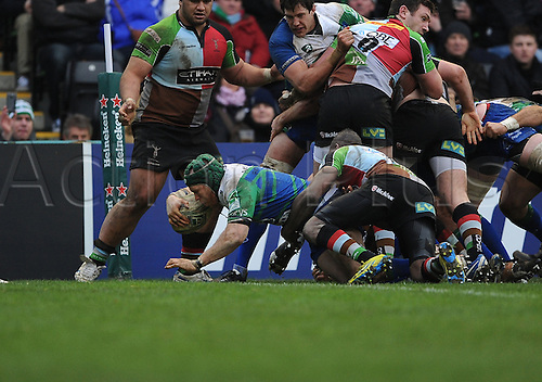 12.01.2013 London, England. the Heineken Cup game between Harlequins and Connacht Rugby from The Stoop.