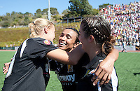 Marta celebrates with teammates after the game. FC Gold Pride defeated the Philadelphia Independence 4-0 to win the 2010 WPS Championship at Pioneer Stadium in Hayward, California on September 26th, 2010.