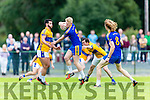 Mike McCarthy, Spa, beats Jeff O'Donoghue, Glenflesk to the loose ball during their Division 2 clash on Saturday in Glenflesk.