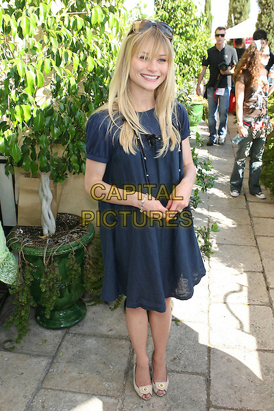 "EMILIE DE RAVIN .The Frederic Fekkai Pre-Emmy ""Style 2006 Garden Party"" - Day 1, Los Angeles, California, USA..August 25th, 2006.Ref: ADM/ZL.full length blue dress  .www.capitalpictures.com.sales@capitalpictures.com.©Zach Lipp/AdMedia/Capital Pictures."