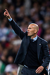 Manager Zinedine Zidane of Real Madrid gestures during the UEFA Champions League Semi-final 2nd leg match between Real Madrid and Bayern Munich at the Estadio Santiago Bernabeu on May 01 2018 in Madrid, Spain. Photo by Diego Souto / Power Sport Images