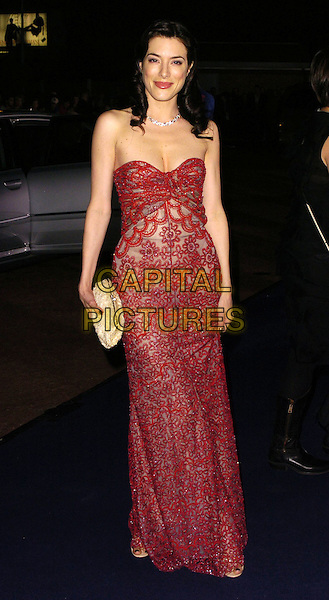 JAIME MURRAY.At the Giorgio Armani RED One Night Only .Fashion & Music Party, Earls Court, .London, England, September 21st 2006..full length red lace strapless dress.Ref: CAN.www.capitalpictures.com.sales@capitalpictures.com.©Can Nguyen/Capital Pictures