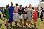 Maire Phillips, Lynn Browne, Carol O'Brien, Sinead McGuinness, Maura Collins, Leanne Matthews and Leone Cooney at the Bellewstown Races 2011...(Photo credit should read Jenny Matthews www.newsfile.ie)....This Picture has been sent you under the conditions enclosed by:.Newsfile Ltd..The Studio,.Millmount Abbey,.Drogheda,.Co Meath..Ireland..Tel: +353(0)41-9871240.Fax: +353(0)41-9871260.GSM: +353(0)86-2500958.email: pictures@newsfile.ie.www.newsfile.ie.