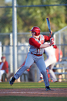 Indiana Hoosiers designated hitter Scotty Bradley (30) at bat during a game against the Illinois State Redbirds on March 4, 2016 at North Charlotte Regional Park in Port Charlotte, Florida.  Indiana defeated Illinois State 14-1.  (Mike Janes/Four Seam Images)