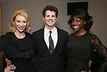 """Kaitlyn Davidson, Jacob ben Widmar and Kimberly Marable from  """"Mrs. Miller Does Her Thing""""  at the Signature Theatre on March 18, 2017 in Arlington, Virginia."""