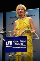 MIAMI, FL - OCTOBER 09: Author Elizabeth Gilbert discusses and signs copies of her book 'The Signature of all Things' presented by Books and Books at Miami Dade College.  October 9, 2013. Credit:  MPI10/MediaPunch Inc