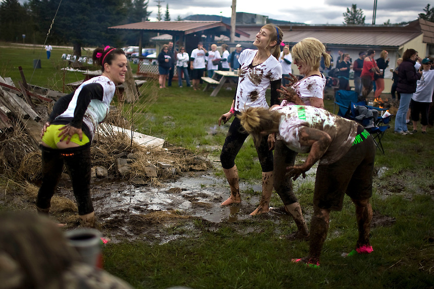 Team Goody Box at the 2011 Mud Volleyball Tournament in Laclede, ID sponsored by the Kodiak Bar. .(©Matt Mills McKnight/2011)