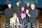 """Abbeyfeale Drama Group: Members of Abbefeale drama group  rehearsing for their production of John B Keane's play """"Moll"""" which they are staging in Abbeyfaele on the 3rd, 5th,6th,10th & 12th of February; Front; Joan O'Connell & Dick Woulfe. Back: Mikey O'Connor, Seamus lane, Mary Murphy, Pat Scannell & Maurice O'Mara."""