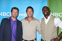 BEVERLY HILLS, CA - JULY 24: Todd Palin, Brent Gleeson and Terry Crews at the 2012 NBC Universal TCA summer press tour at The Beverly Hilton Hotel on July 24, 2012 in Beverly Hills, California. Credit: mpi25/MediaPunch Inc. /NortePhoto.com<br />