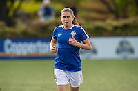 Allston, MA - Sunday, May 22, 2016: FC Kansas City midfielder Heather O'Reilly (9) during warmups prior to a regular season National Women's Soccer League (NWSL) match at Jordan Field.