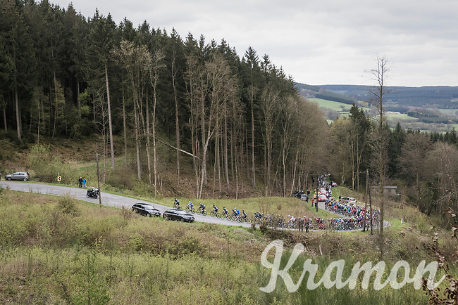 peloton up the Col du Rosier<br /> <br /> 103rd Li&egrave;ge-Bastogne-Li&egrave;ge 2017 (1.UWT)<br /> One Day Race: Li&egrave;ge &rsaquo; Ans (258km)