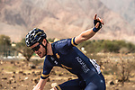 Assistance required for Conor Dunne (IRL) Aqua Blue Sport during Stage 1 of the 2018 Tour of Oman running 162.5km from Nizwa to Sultan Qaboos University. 13th February 2018.<br /> Picture: ASO/Muscat Municipality/Kare Dehlie Thorstad | Cyclefile<br /> <br /> <br /> All photos usage must carry mandatory copyright credit (&copy; Cyclefile | ASO/Muscat Municipality/Kare Dehlie Thorstad)