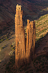 Canyon de Chelly National Monument, Arizona, Spider Rock, red rock geology, Navajo Nation and National Park Service are in joint management of the canyon,