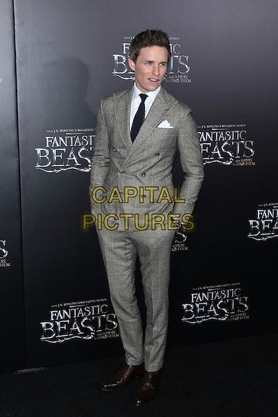 NEW YORK, NY - NOVEMBER 10: Eddie Redmayne at the World Premiere of Fantastic Beasts and Where to Find Them at Alice Tully Hall on November 10, 2016 in New York City.   <br /> CAP/MPI/DIE<br /> &copy;DIE/MPI/Capital Pictures