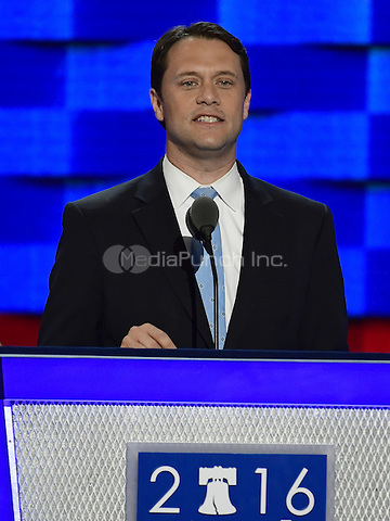 State Senator Jason Carter (Democrat of Georgia), grandson of former United States President Jimmy Carter, makes remarks during the second session of the 2016 Democratic National Convention at the Wells Fargo Center in Philadelphia, Pennsylvania on Tuesday, July 26, 2016.<br /> Credit: Ron Sachs / CNP/MediaPunch<br /> (RESTRICTION: NO New York or New Jersey Newspapers or newspapers within a 75 mile radius of New York City)