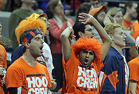 Virginia fans god crazy after a foul is called during the game against Maryland Monday night in Charlottesville, VA. Photo/The Daily Progress/Andrew Shurtleff