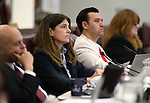 Nevada Assembly members, from left, Jim Wheeler, Shelly Shelton, Stephen Silberkraus and Ellen Spiegel work in committee at the Legislative Building in Carson City, Nev., on Wednesday, April 29, 2015. <br /> Photo by Cathleen Allison