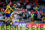 Donchadh O'Sullivan Kerry in action against  Clare in the Munster Minor Football Final at Fitzgerald Stadium on Sunday.