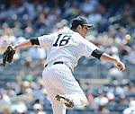Hiroki Kuroda (Yankees),<br /> JULY 7, 2013 - MLB :<br /> Hiroki Kuroda of the New York Yankees pitches during the Major League Baseball game against the Baltimore Orioles at Yankee Stadium in The Bronx, New York, United States. (Photo by AFLO)