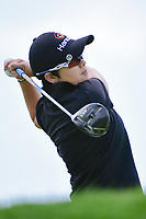 Eun-Hee Ji (KOR) watches her tee shot on 2 during Sunday's final round of the 72nd U.S. Women's Open Championship, at Trump National Golf Club, Bedminster, New Jersey. 7/16/2017.<br /> Picture: Golffile | Ken Murray<br /> <br /> <br /> All photo usage must carry mandatory copyright credit (&copy; Golffile | Ken Murray)