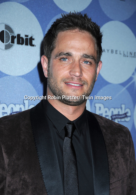 Michel Brown Argentinean actor actor posing for photographers at The People En Espanol's 50 Most Beautiful People Party on May 20, 2010 at Guastavinos in New York City.