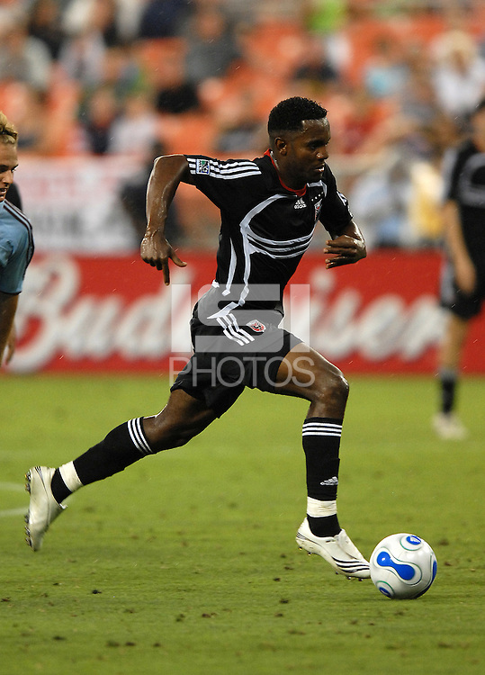 DC United forward Luciano Emilio (11) races upfield. DC United defeated Colorado Rapids 4-1, at RFK Stadium in Washington DC, Thursday, June 28, 2007.