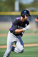 Colorado Rockies Willie Abreu (64) during an Instructional League game against the Los Angeles Angels of Anaheim on October 6, 2016 at the Tempe Diablo Stadium Complex in Tempe, Arizona.  (Mike Janes/Four Seam Images)