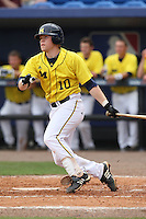 March 21, 2010:  Catcher Chris Berset (10) of the Michigan Wolverines at bat during a game at Tradition Field in St. Lucie, FL.  Photo By Mike Janes/Four Seam Images