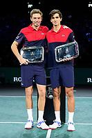 3r3rd November 2019, AccorHotels Arena, Bercy, Paris, France; Rolex Paris masters Tennis tournament, finals day;  joie de Pierre Hugues Herbert and Nicolas Mahut (Fra)  mens doubles final winners