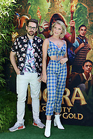 """LOS ANGELES - JUL 28:  Ian Hecox, Courtney Miller, SMOSH at the """"Dora and the Lost City of Gold"""" World Premiere at the Regal LA Live on July 28, 2019 in Los Angeles, CA"""