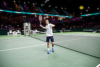 Februari 13, 2015, Netherlands, Rotterdam, Ahoy, ABN AMRO World Tennis Tournament, Gilles Simon (FRA)<br /> Photo: Tennisimages/Henk Koster