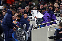 Dele Alli of Tottenham Hotspur throws his shirt after being substituted during Tottenham Hotspur vs RB Leipzig, UEFA Champions League Football at Tottenham Hotspur Stadium on 19th February 2020