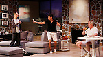 """Brenda Withers, Davy Raphaely and Malachy Cleary star in """"Other Desert Cities"""" at the tech rehearsal (in costume) on October 14, 2015 at Whippoorwill Halll Theatre, North Castle Library, Kent Place, Armonk, New York.  (Photo by Sue Coflin/Max Photos)"""