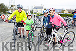 Declan Sheehan, Conor, Jamie and Linda O'Sullivan all from Ardfert attending the cycle in the Ardfert NS on Sunday morning.