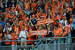 The Hague, Netherlands, June 15: Dutch fans hold up banners during the field hockey gold match (Men) between Australia and The Netherlands on June 15, 2014 during the World Cup 2014 at Kyocera Stadium in The Hague, Netherlands. Final score 6-1 (2-1)  (Photo by Dirk Markgraf / www.265-images.com) *** Local caption ***