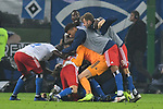 05.11.2018,  GER; 2. FBL, Hamburger SV vs 1.FC Koeln 1848 ,DFL REGULATIONS PROHIBIT ANY USE OF PHOTOGRAPHS AS IMAGE SEQUENCES AND/OR QUASI-VIDEO, im Bild Pierre-Michel Lasogga (Hamburg #10) schiesst das 1-0 fuer Hamburg und jubelt mit der Mannschaft  Foto © nordphoto / Witke *** Local Caption ***