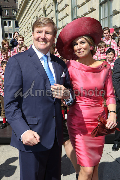 13 April 2016 - Munich, Germany - State visit of the Dutch Royal couple King Willem-Alexander and Queen Maxima in Munich, Germany. Photo Credit: FrancoGulotta/face to face/AdMedia