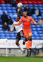 Bolton Wanderers' Lloyd Dyer competing with Millwall's Mahlon Romeo <br /> <br /> Photographer Andrew Kearns/CameraSport<br /> <br /> The EFL Sky Bet Championship - Bolton Wanderers v Millwall - Saturday 9th March 2019 - University of Bolton Stadium - Bolton <br /> <br /> World Copyright © 2019 CameraSport. All rights reserved. 43 Linden Ave. Countesthorpe. Leicester. England. LE8 5PG - Tel: +44 (0) 116 277 4147 - admin@camerasport.com - www.camerasport.com