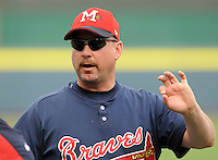 11 April 2008: Manager Phillip Wellman of the Mississippi Braves, Class AA affiliate of the Atlanta Braves, in a game against the Mobile BayBears at Trustmark Park in Pearl, Miss. Photo by:  Tom Priddy/Four Seam Images